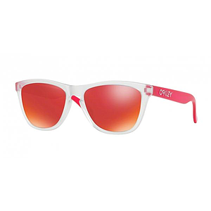 Oak Gla Frogskins Matte clear/Transparent Pink Torch Iridium